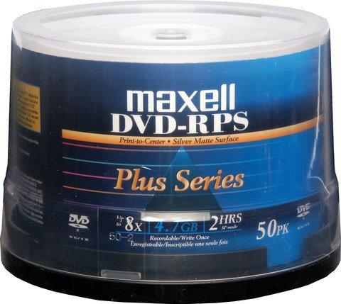 8x DVD-R Silver Inkjet Printable - 50 Discs