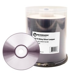Microboards 16x DVD-R Shiny Silver Thermal Printable - 100 Discs