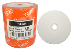Titan 52x CD-R White Inkjet Printable - 100 Discs