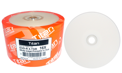 Titan 16x DVD-R White Inkjet Printable - 50 Discs