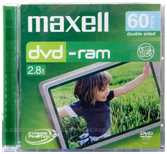 Maxell 2.8GB Double Sided 60 mins DVD-RAM
