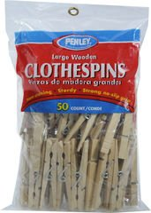 Generic Wood Spring Clothespins - 50 pack