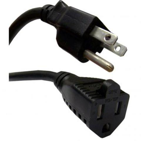 CableWholesale.com 25ft Power Extension Cord NEMA 5/15P to NEMA 5/15R
