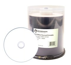 Microboards 52x CD-R White Thermal Printable - 100 Discs