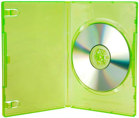 14mm Single X-Box Green Disc Case