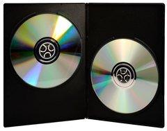 Evergreen 7mm Double DVD Case - Black