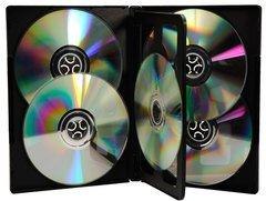 Evergreen 14mm Full Sleeve DVD Case 6 Disc - Black