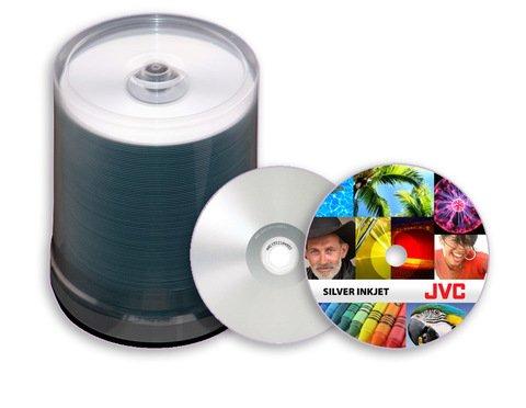 JVC 52x CD-R Silver Inkjet Printable - 100 Discs