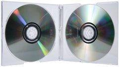 TapeOnline.com 5.2mm Double Slimline Jewel Case - Clear