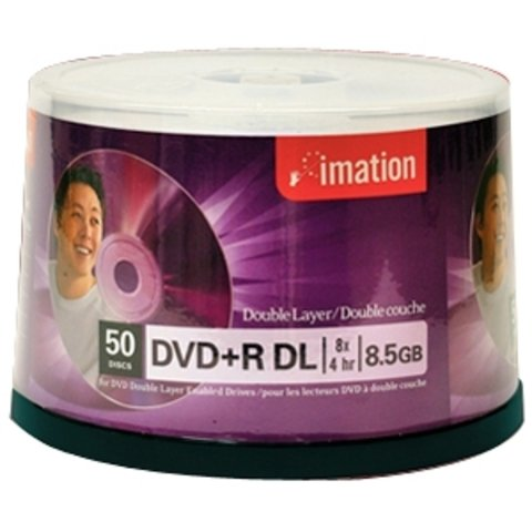 Imation 8x DVD+R DL Double Layer Logo Branded - 50 Discs