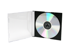 Evergreen 5.2mm CD/DVD Slimline Jewel Case - Black