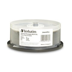 Verbatim 6x BD-R DL Dual Layer White Thermal Printable - 25 Discs