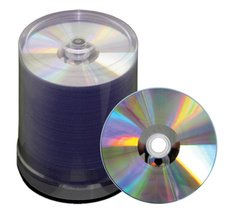 JVC 52x CD-R Silver Thermal Everest Printable - 100 Discs