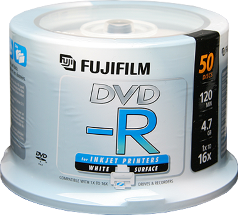 Fujifilm 16x DVD-R White Inkjet Printable - 50 Discs