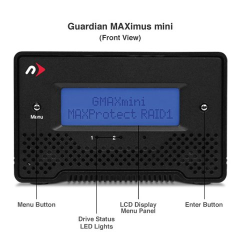 NewerTech 2TB Guardian Maximus mini Quad Interface RAID Drive