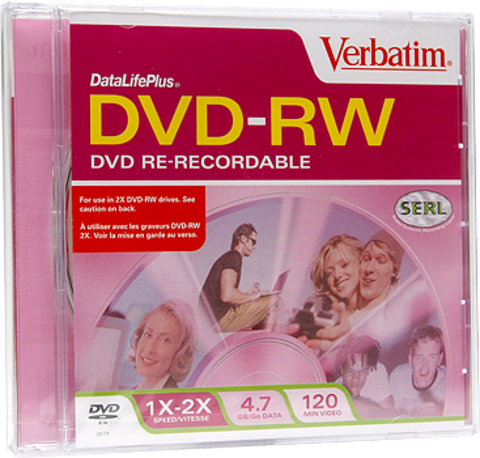 Verbatim DVD-RW Jewel Case