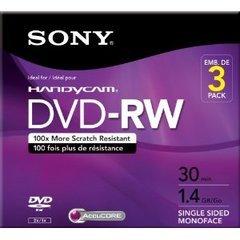Sony 1.4 GB DVD-RW Camcorder Mini DVD - 3 Discs