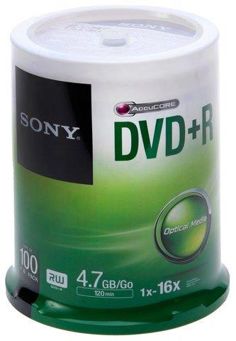 Sony DVD+R Logo Branded 100 Discs