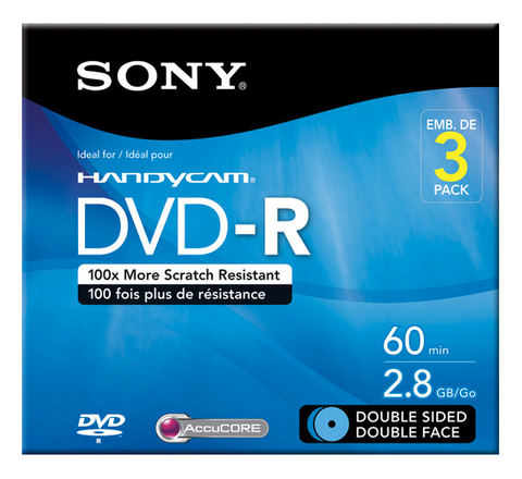 Sony 2.8 GB DVD-R Camcorder Mini DVD - 3 Discs