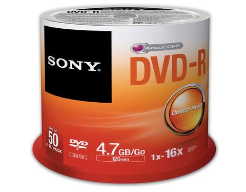 Sony 16x DVD-R Logo Branded - 50 Discs