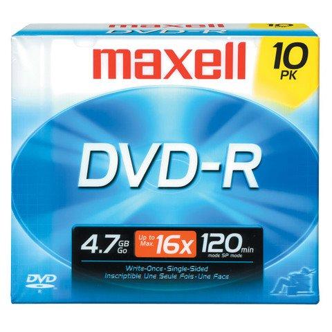 Maxell 16x DVD-R Logo Branded - 10 Discs