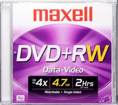 Maxell 4x DVD+RW Logo Branded - 1 Disc