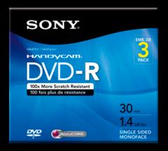 Sony 1.4 GB DVD-R Camcorder Mini DVD - 3 Discs