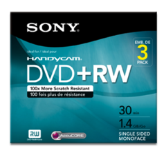 Sony 1.4 GB DVD+RW Camcorder Mini DVD - 3 Discs