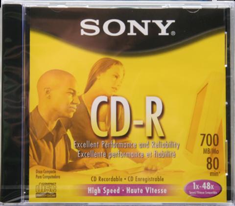 Sony 48x CD-R Logo Branded - 1 Disc