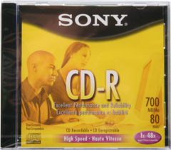 Sony 48x CD-R Logo Branded - 10 Pack-In Jewel Case