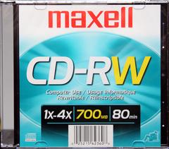 Maxell CDRW80-10 pack