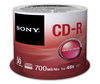 Sony 48x CD-R Logo Branded - 50 Discs