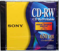 Sony CDRW650HS for High Speed Drive