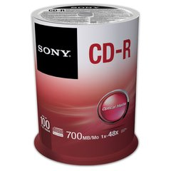Sony 48x CD-R Logo Branded - 100 Discs