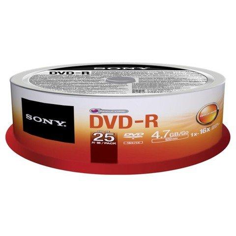 Sony 16x DVD-R Logo Branded - 25 Discs