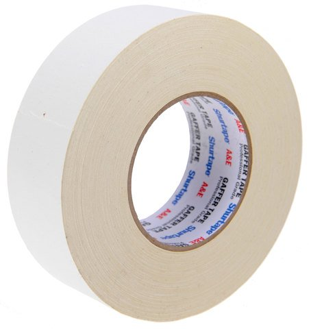 Pro-Tapes Shurtape Professional Grade Gaffer's Tape 2 Inch White