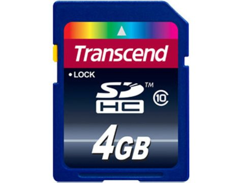 4GB SDHC Class 10