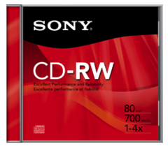 Sony 4x Logo-Branded CD-RW CDRW700R