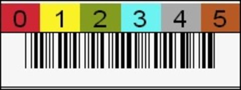 DLT 6-Character Horizontal Barcode Label
