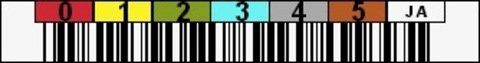 Tri-Optic 3592JA Barcode Labels