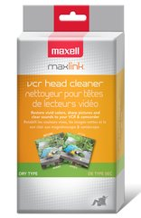 Maxell VHS Head Cleaner Cleaner- Dry