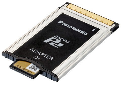 Panasonic microP2 Memory Card Adapter - AJ-P2AD1G