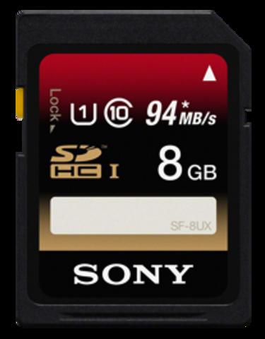 Sony 8GB SDHC Class 10 UHS-1 Memory Card - SF8UX/TQ2