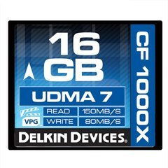 Delkin Devices 16GB CF 1000X UDMA 7 Memory Card