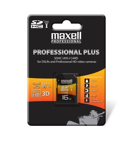 Maxell 16GB Professional Plus Class 10 UHS-1 SDHC Memory Card
