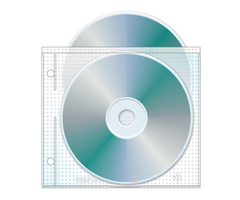 UniKeep Top Load Double Disc CD/DVD Safety-sleeve