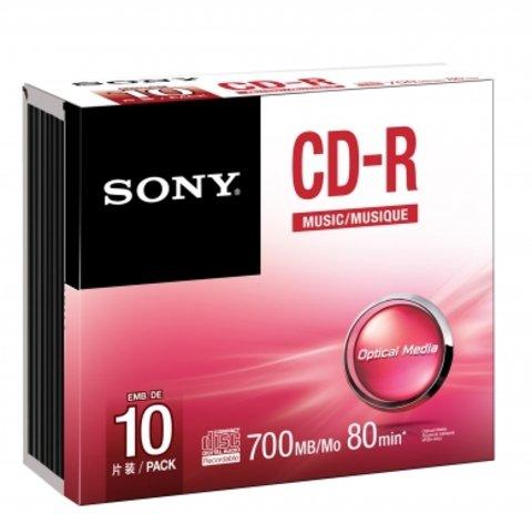 Sony CD-R Logo Branded - 10 Discs