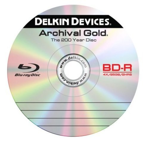 Delkin Devices 25GB Archival Gold Blu-Ray Disc 6X - Spindle of 10