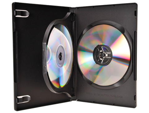 Evergreen 14mm Triple DVD Case with Swing Tray