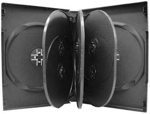 27mm 8 Disc DVD Case with Three Trays